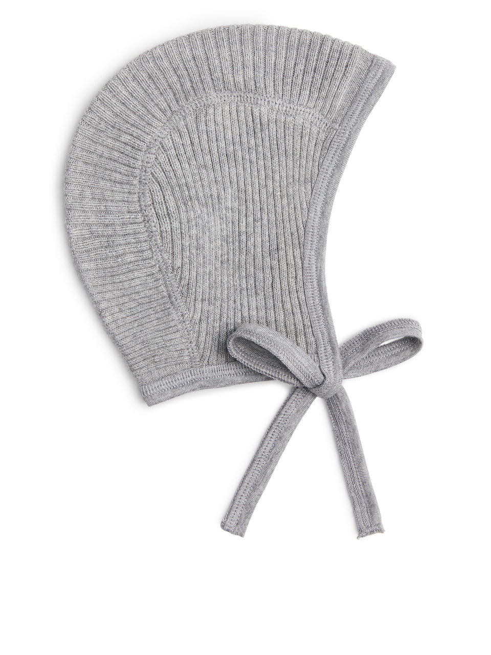 Front image of Arket cotton cashmere helmet cap in grey