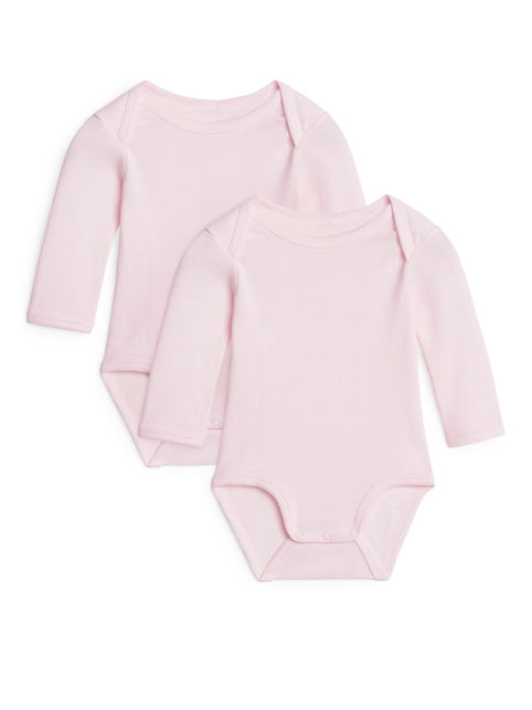 Long-Sleeve Bodysuit, Set of 2