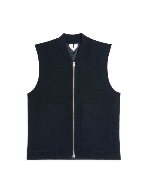 Light Padded Knitted Wool Vest