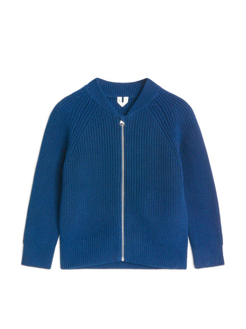 Wool & Yak Zip Cardigan