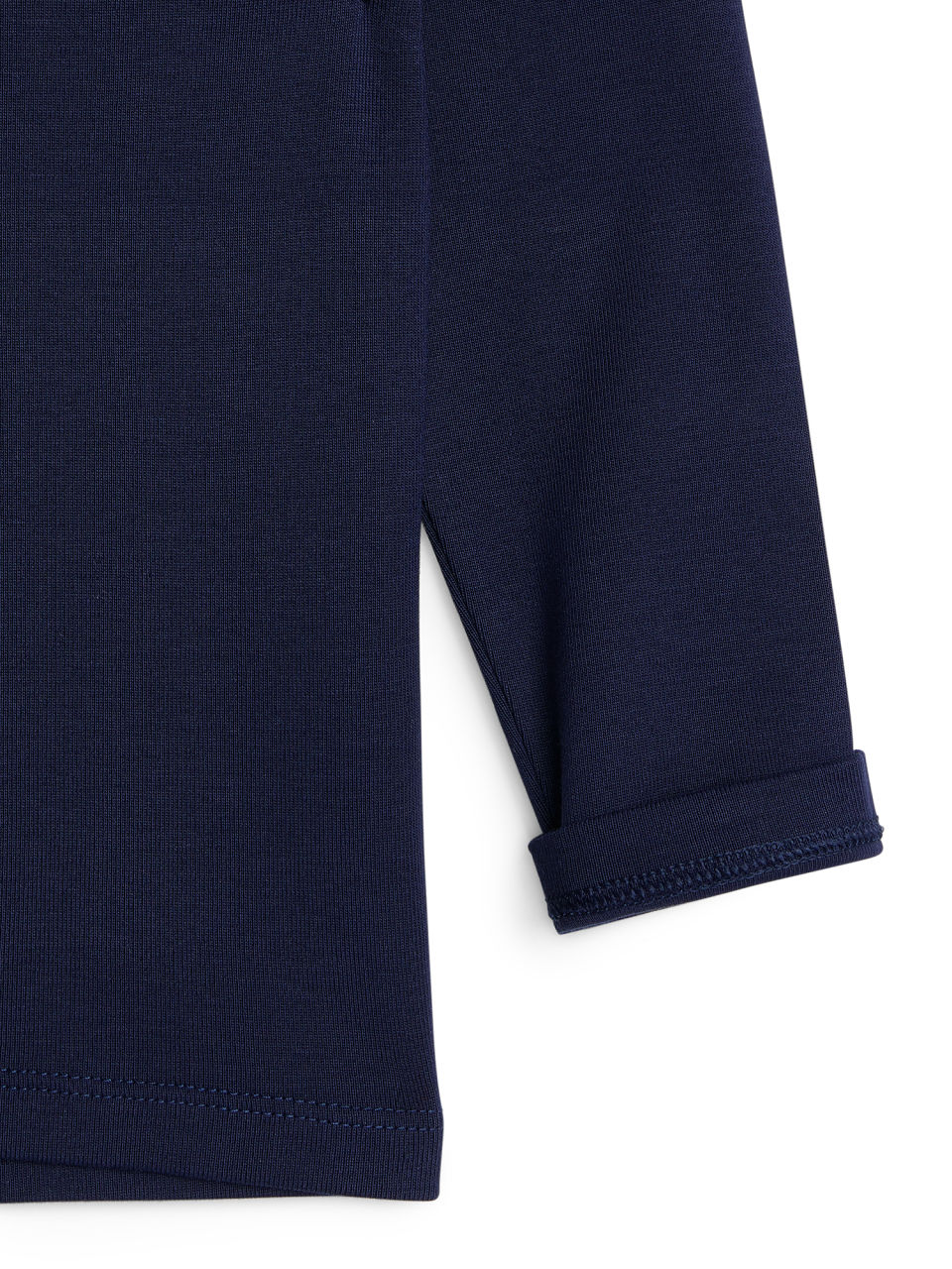 Side image of Arket long-sleeve t-shirt in blue