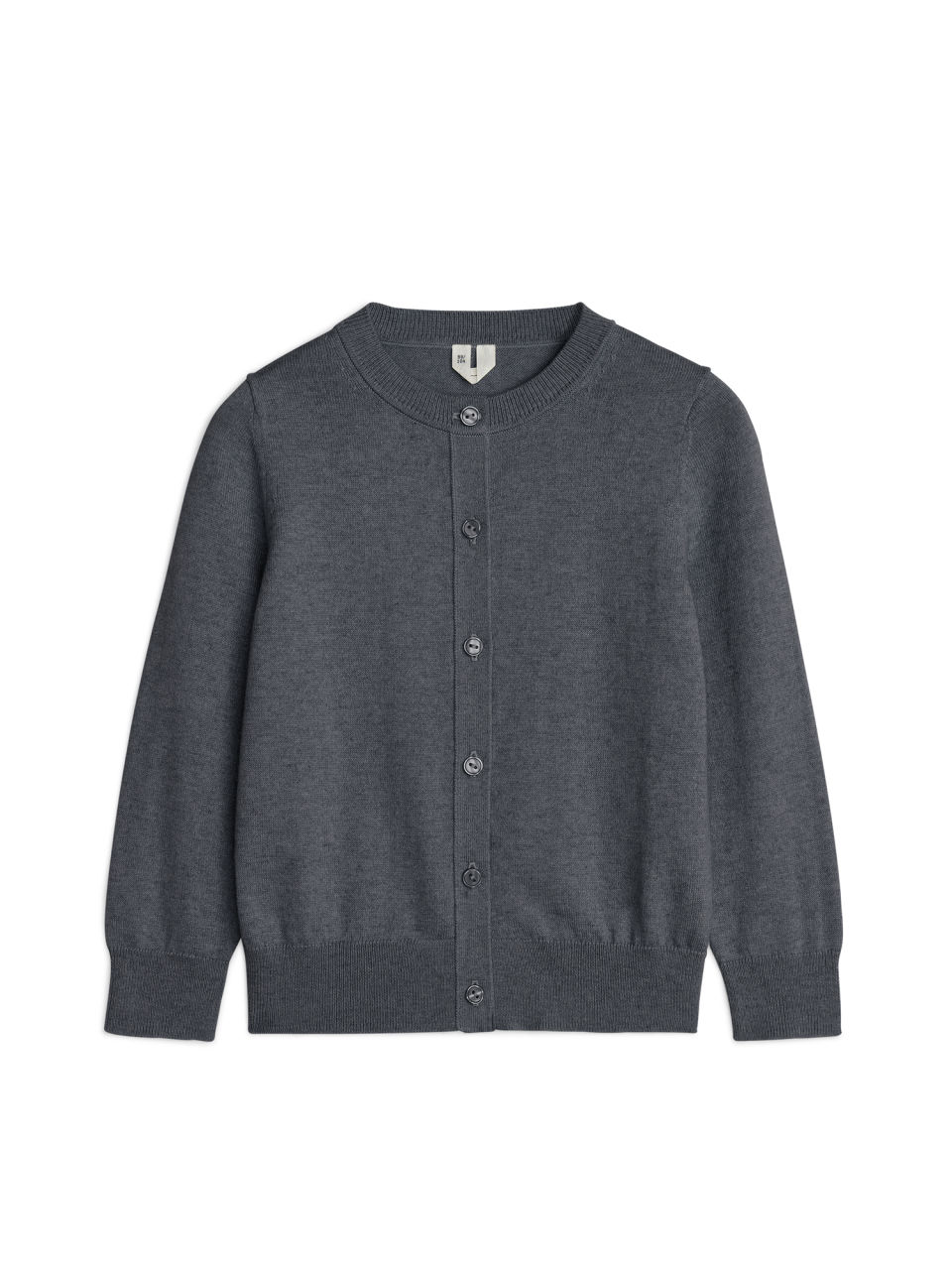 Cotton Cashmere Cardigan - Dark Grey Melange - Knitwear - ARKET