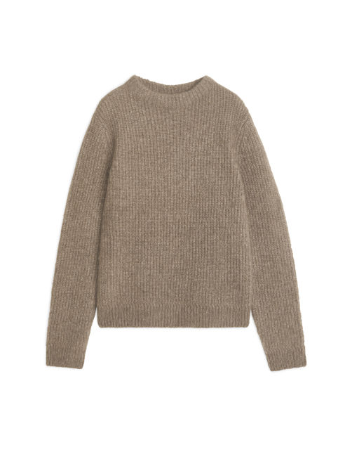 Crew-Neck Fisherman Jumper