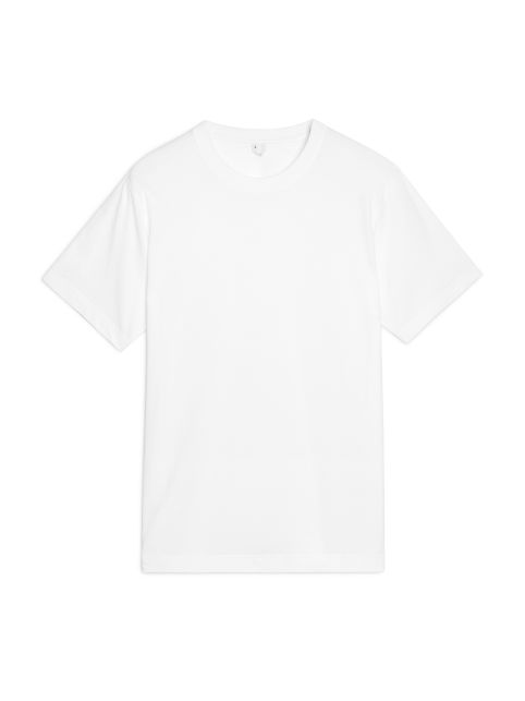 Front image of Arket 170 gsm t-shirt in white