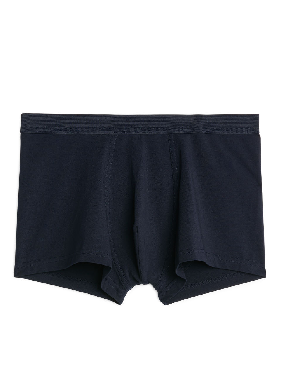 Front image of Arket pima cotton trunks in blue