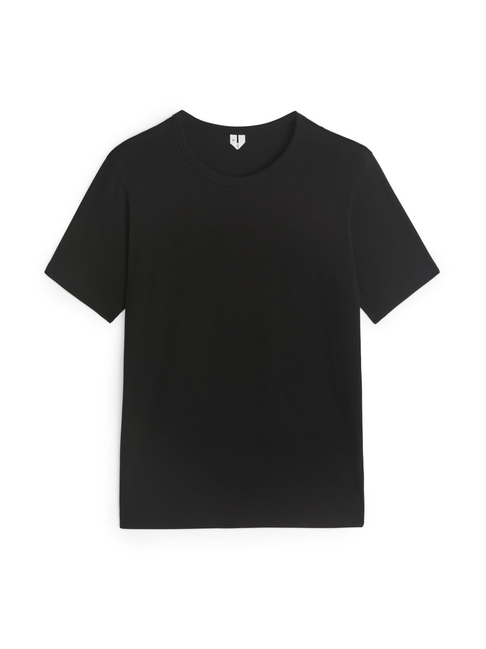 Front image of Arket 150 gsm pima cotton t-shirt in black
