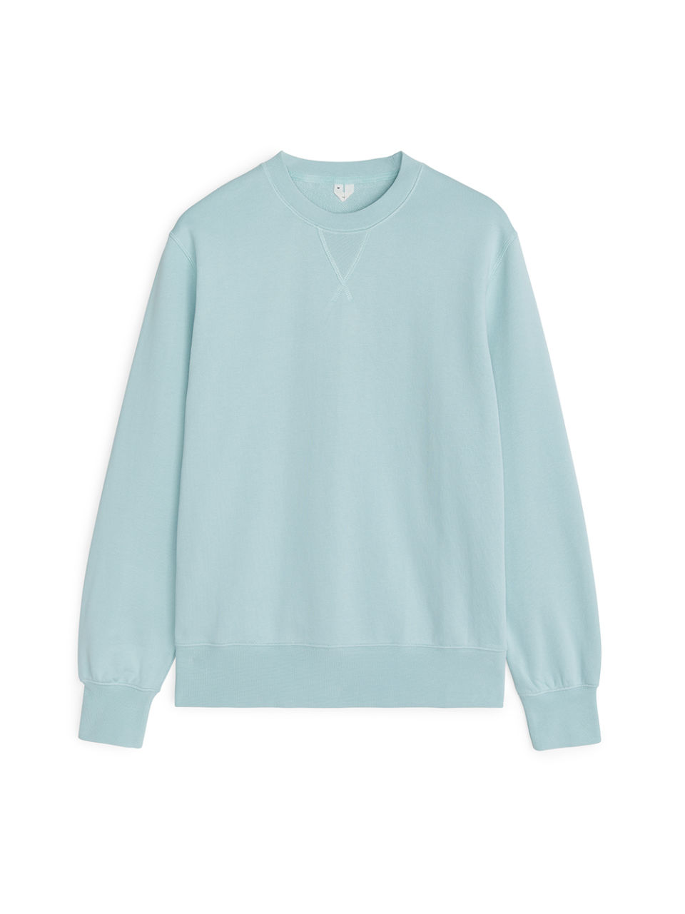 Front image of Arket french terry sweatshirt in turquoise