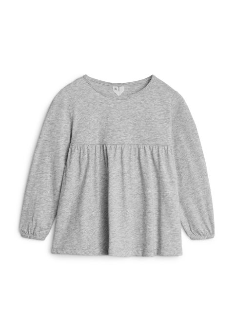 Empire-Cut Cotton Jersey Top
