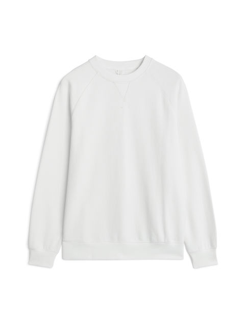 Front image of Arket pima cotton sweatshirt in white