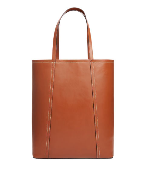 Leather Bucket Tote