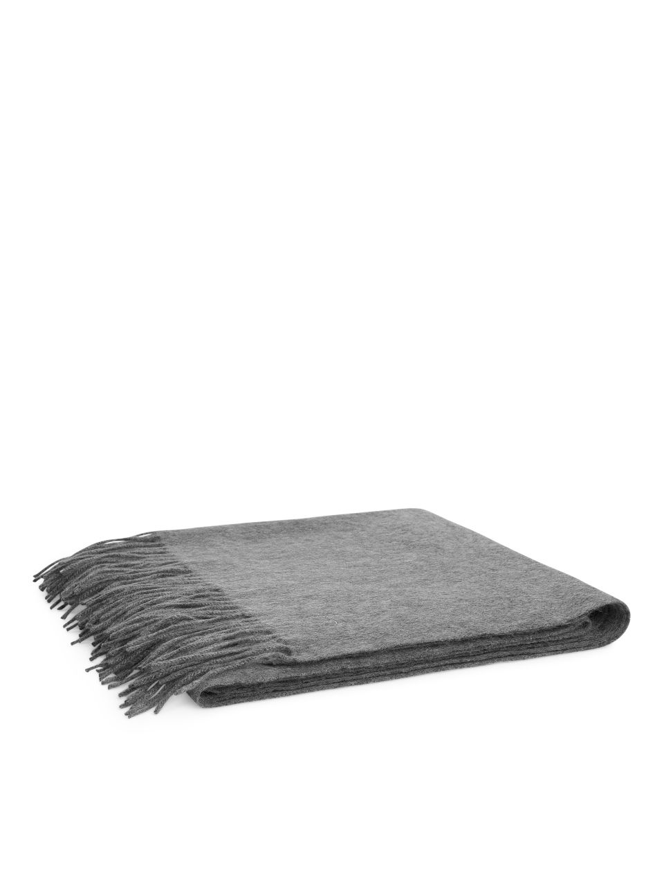 Front image of Arket woven cashmere scarf in grey