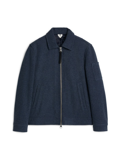 Padded Melton Wool Blouson
