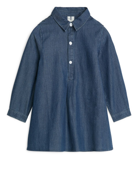 A-Line Denim Shirt Dress