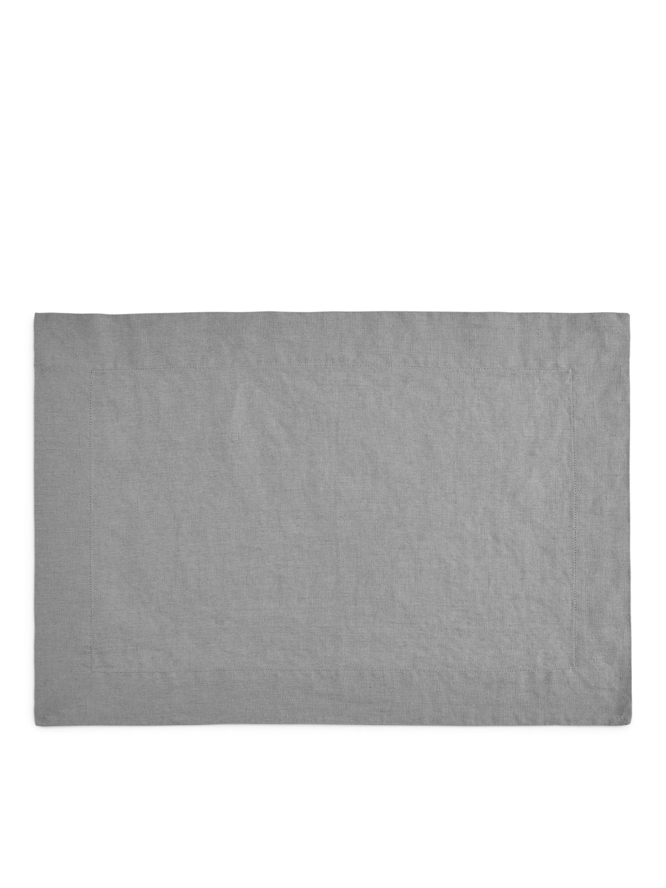 Front image of Arket linen placemat in grey