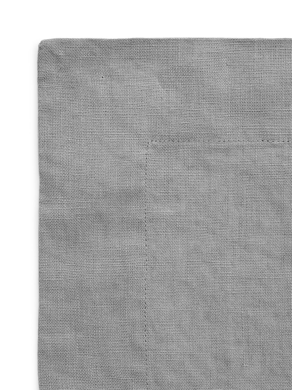 Side image of Arket linen placemat in grey