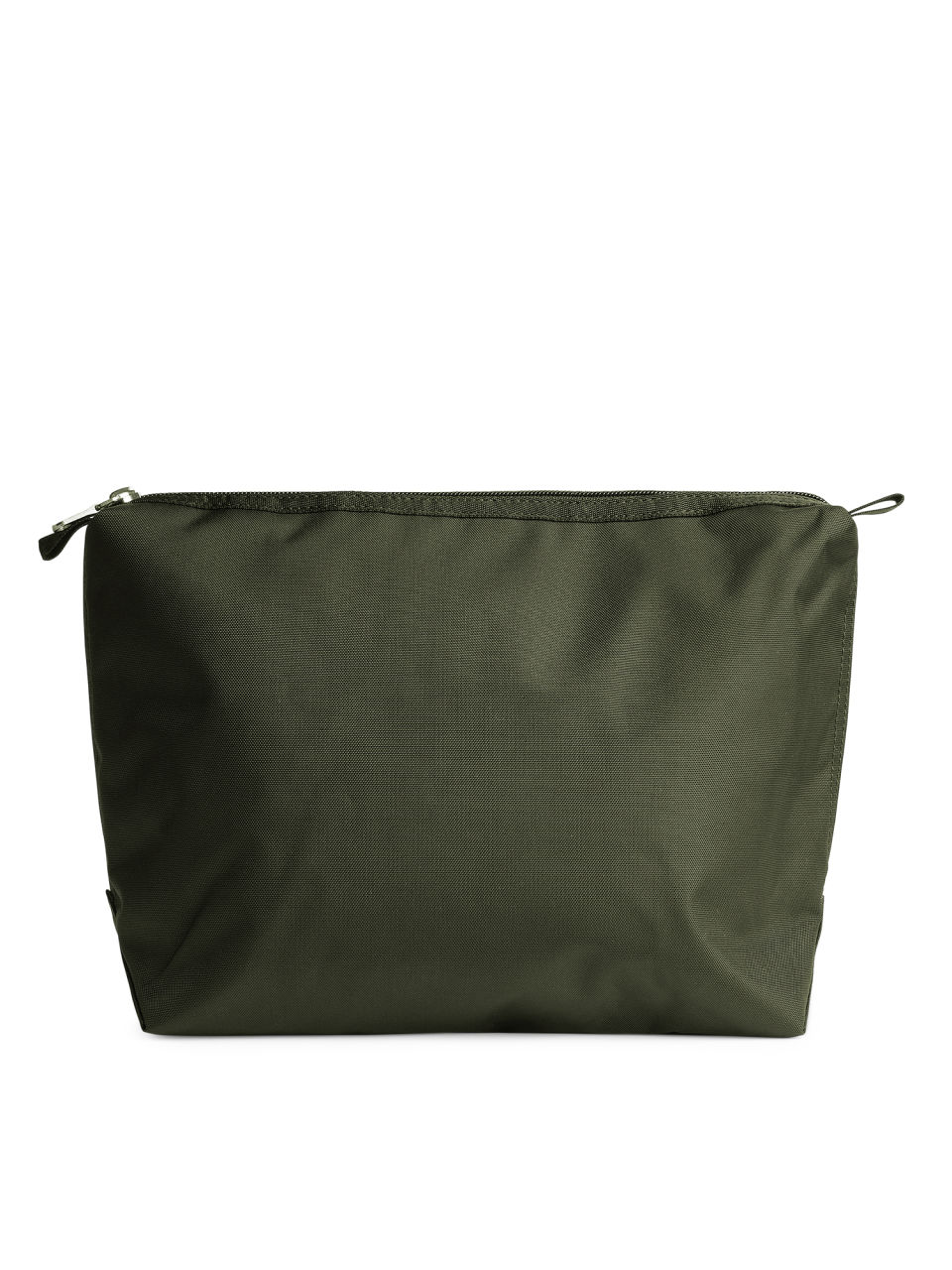 Front image of Arket large toiletry bag in green