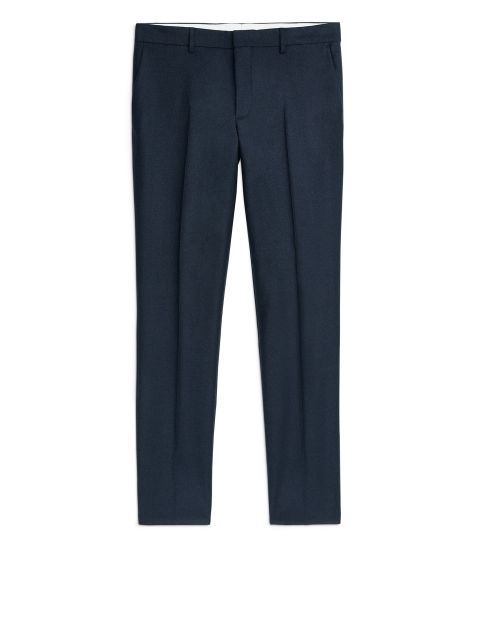 Wool Flannel Trousers, Slim