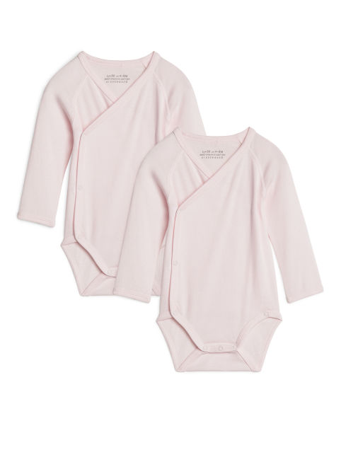 Wrapover Bodysuit, Set of 2