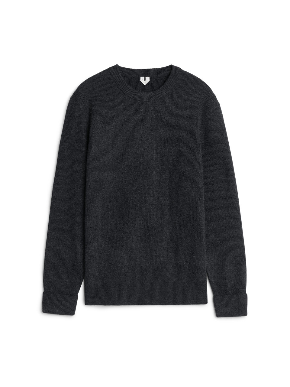 Black yak t shirt - Menknitwear Wool Yak Crew Neck Jumper