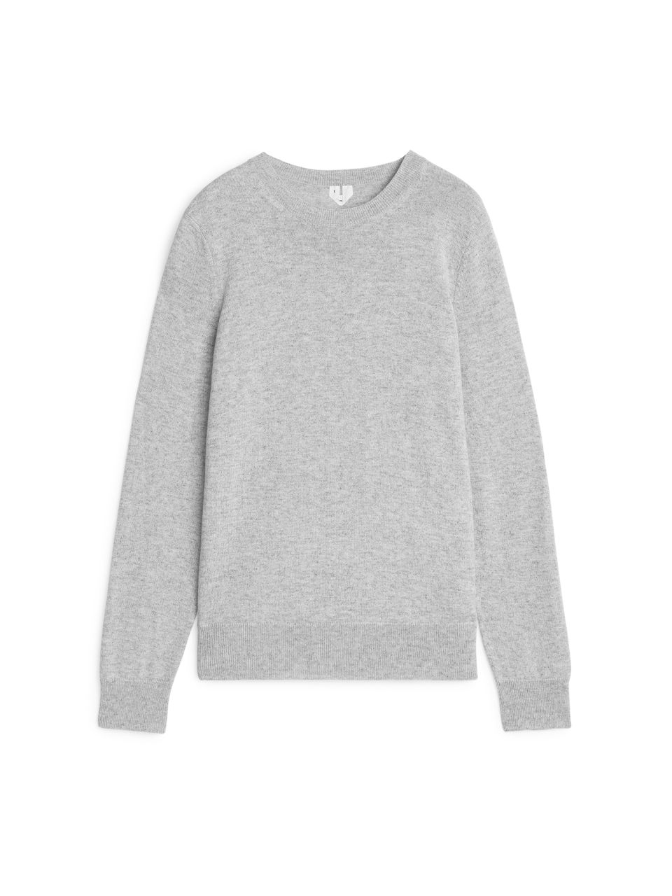 Front image of Arket cashmere crew-neck jumper in grey