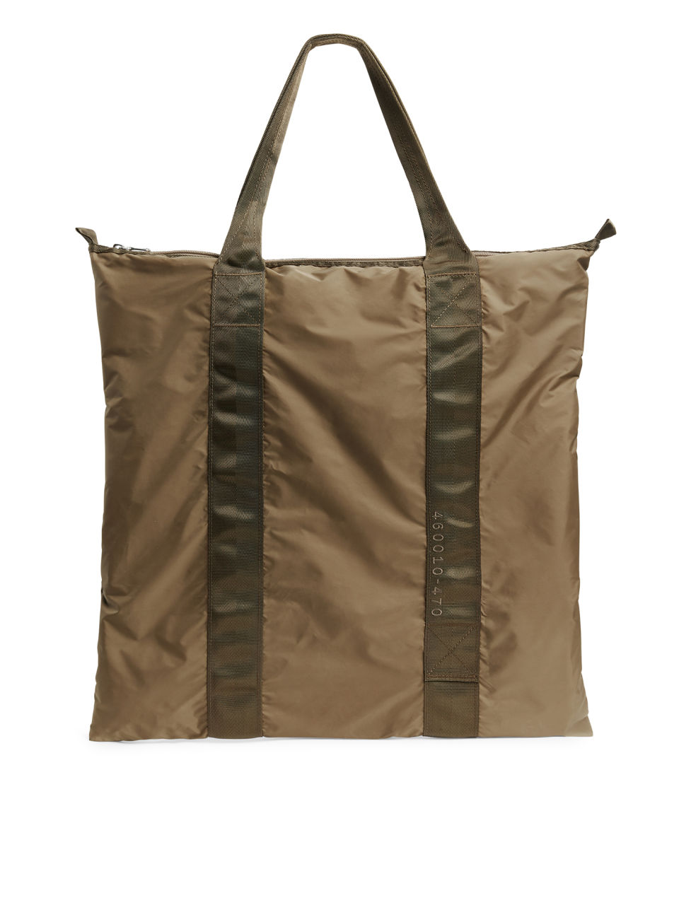 Front image of Arket packable tote in brown