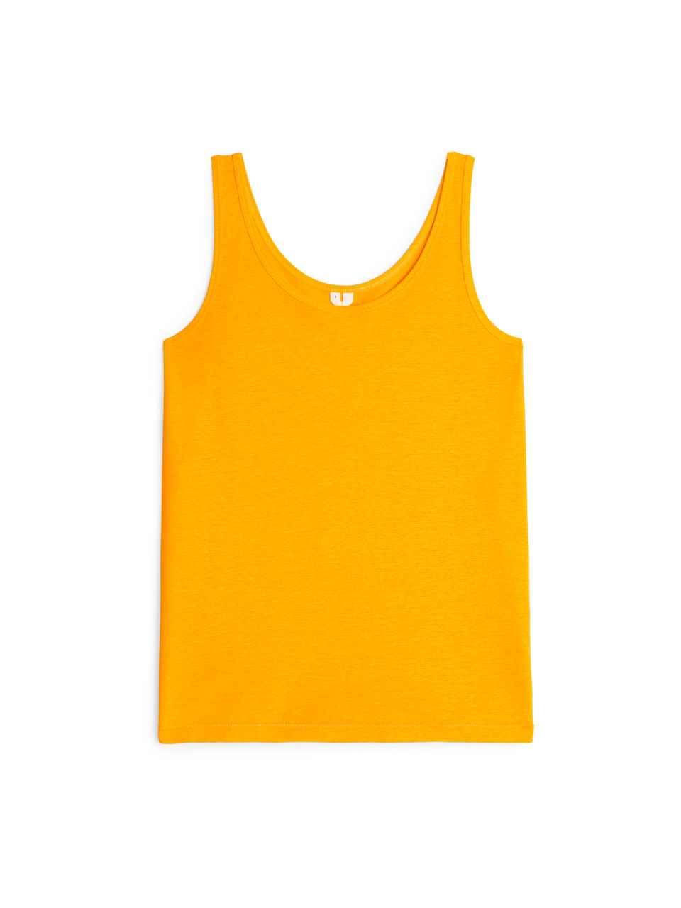 Front image of Arket pima cotton tank top in yellow