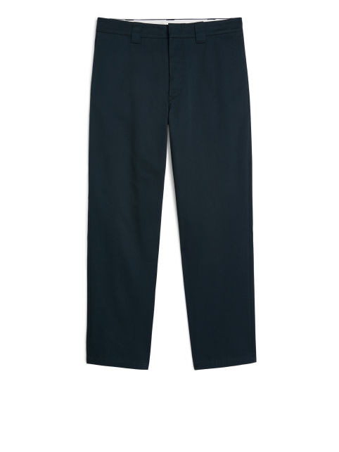 Front image of Arket loose utility cotton chinos in blue