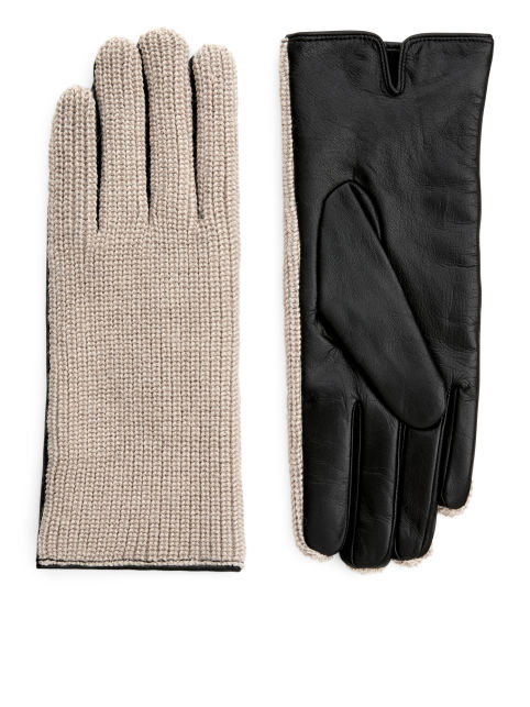 Alpaca & Leather Gloves