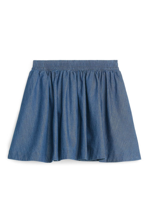 Circle Cut Denim Skirt