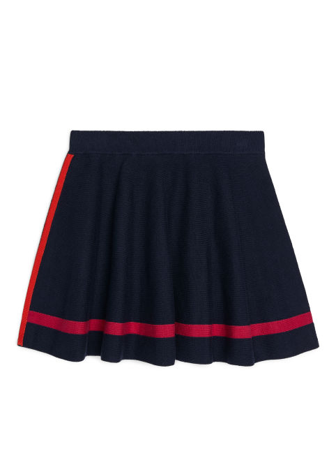 Knitted Colour Block Skirt