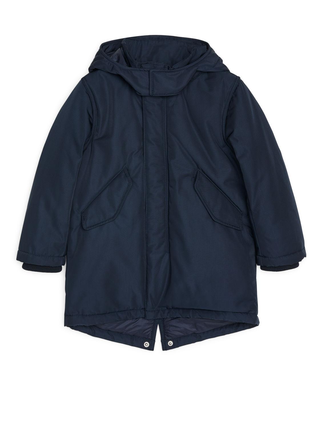 Water-Repellent Padded Parka - Dark Blue - Jackets & Coats - ARKET