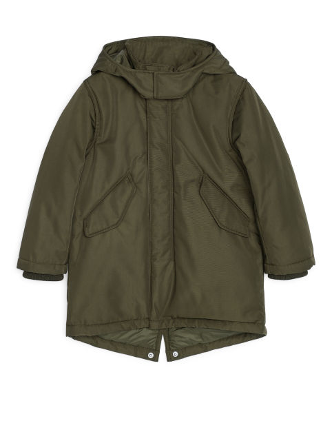 Water-Repellent Padded Parka