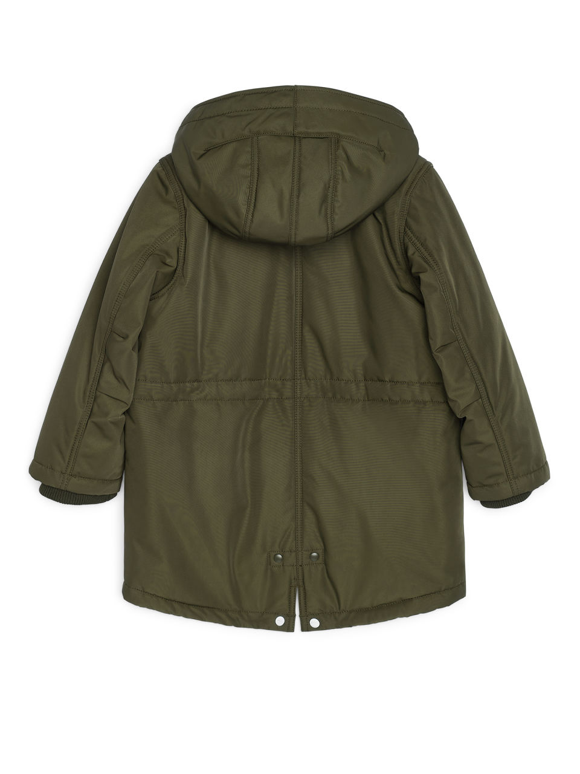 Water-Repellent Padded Parka - Khaki Green - Jackets & Coats - ARKET