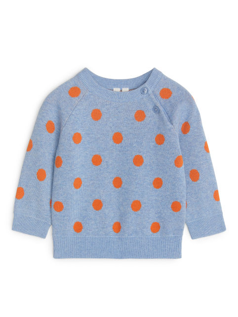 Raglan-Sleeve Dot Jumper