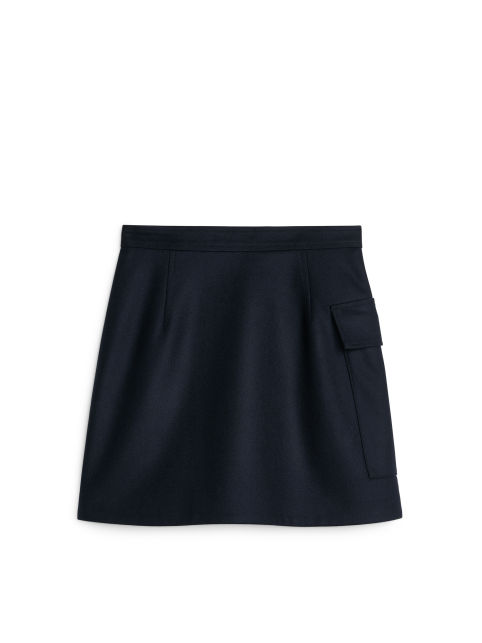 Melton Wool Wrap Skirt