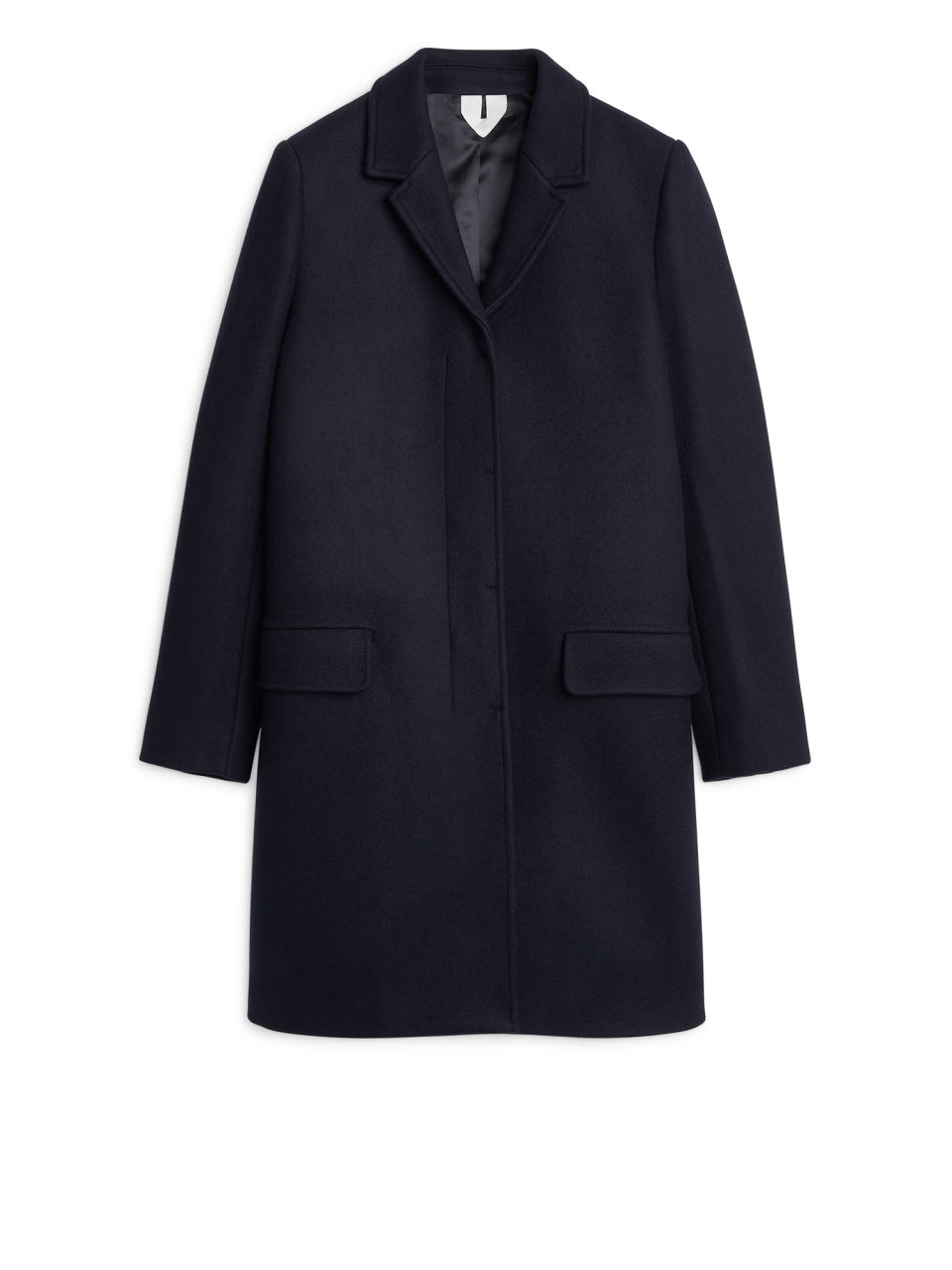 Heavy Wool Coat - Dark Blue - Jackets & Coats - ARKET