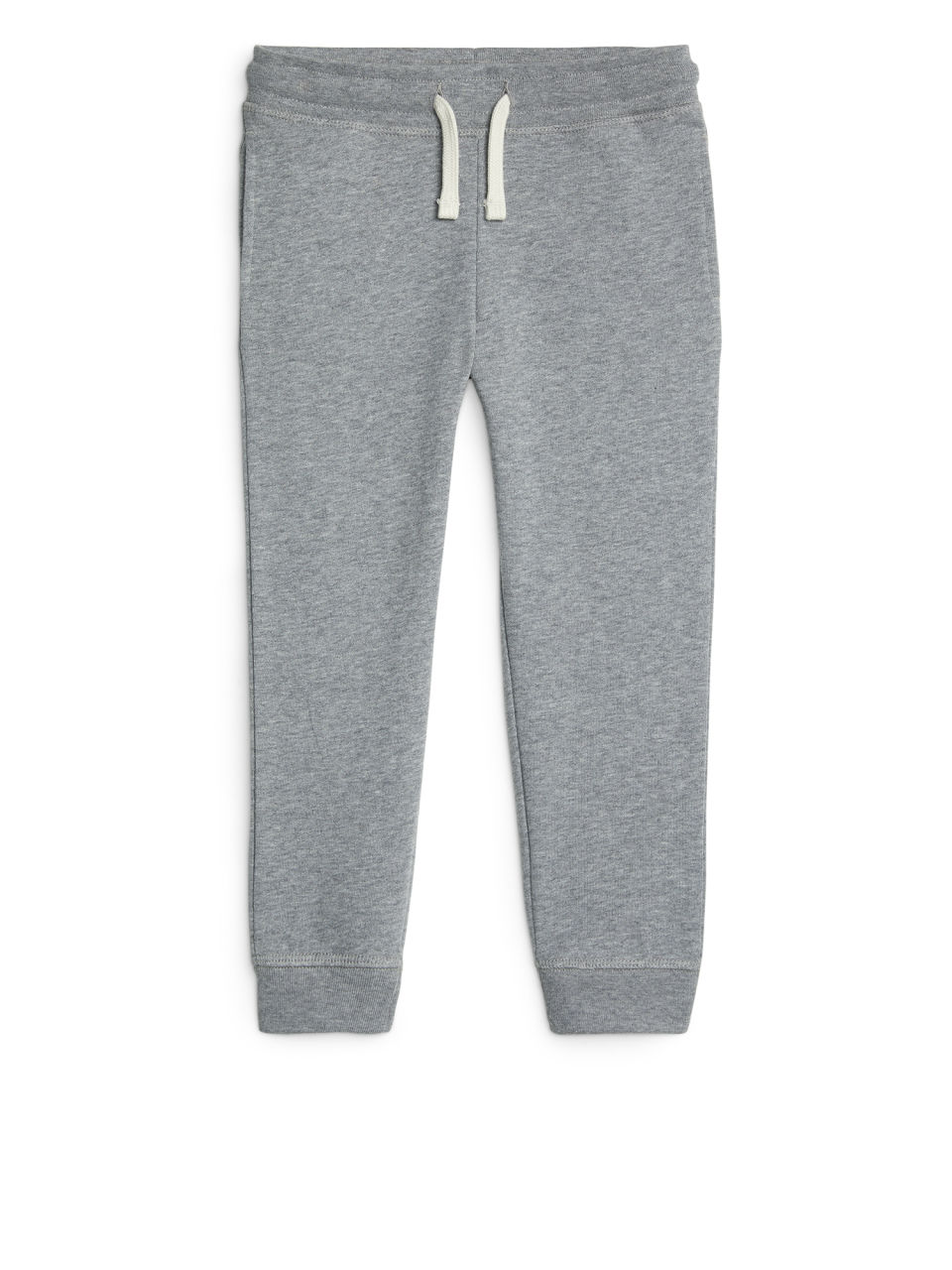 Front image of Arket french terry sweatpants in grey