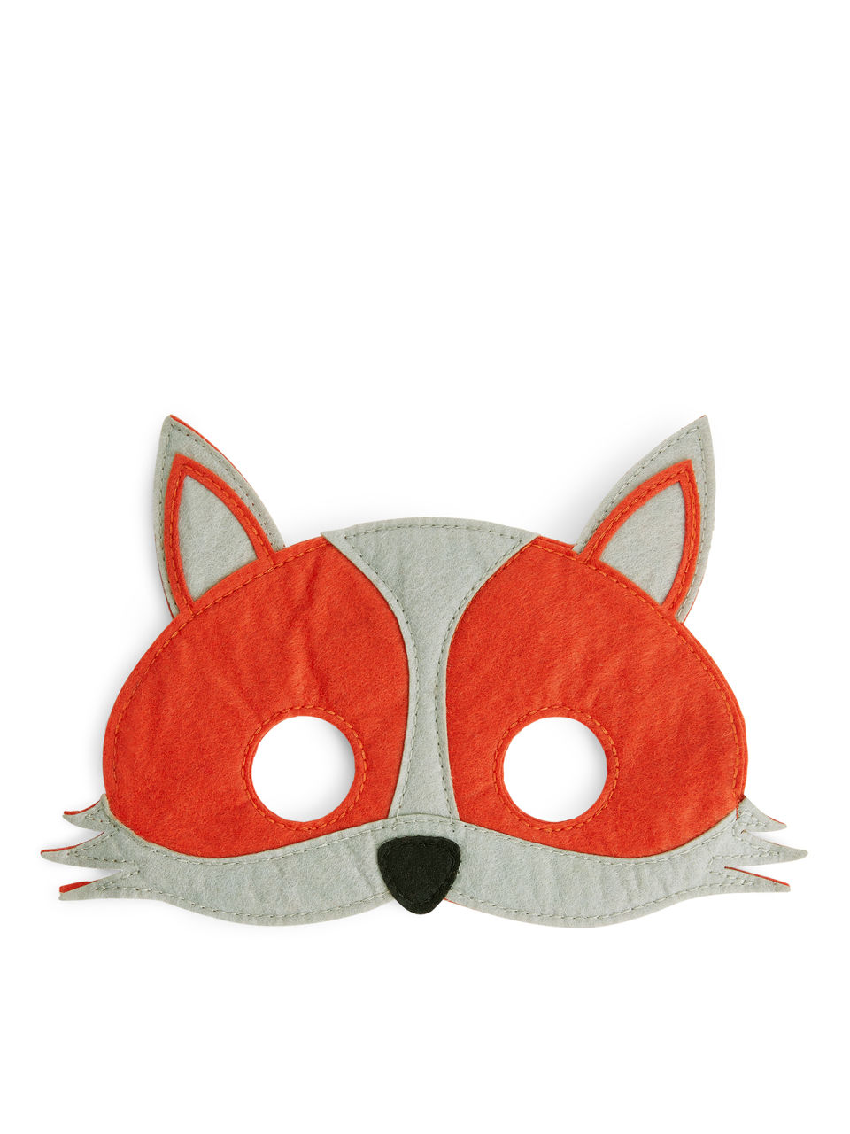 Front image of Arket animal mask in orange