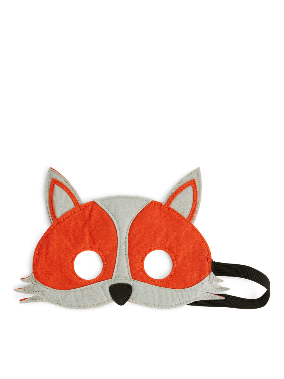 Side image of Arket animal mask in orange