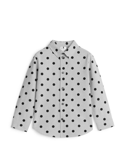 Dotted Cotton Oxford Shirt