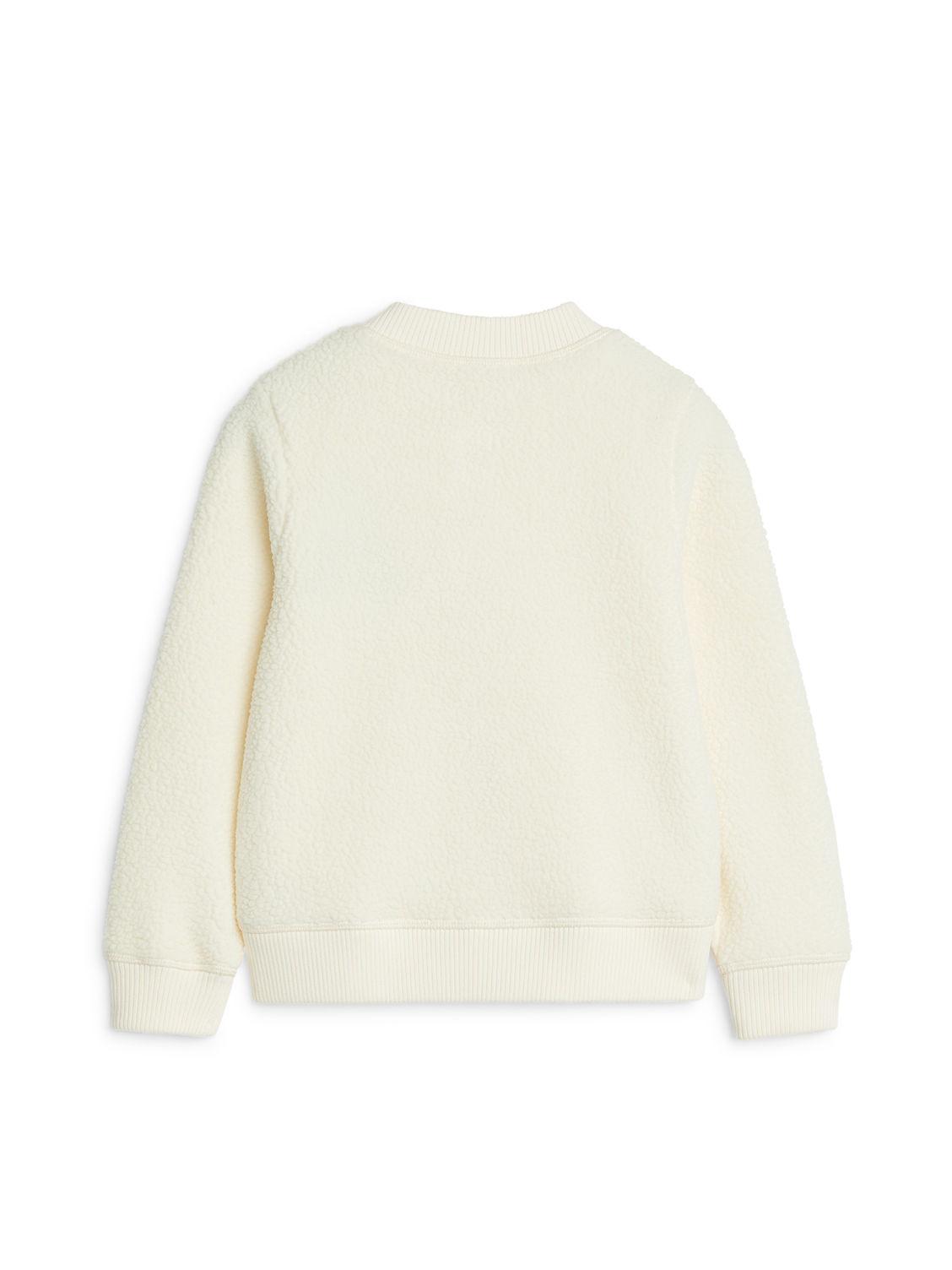 Pile Fleece Cardigan - Off White - Sweatshirts & Hoodies - ARKET