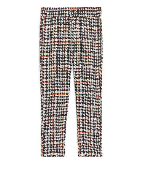 Houndstooth Lyocell Trousers