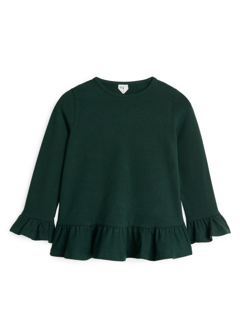 Long-Sleeve Frill Top