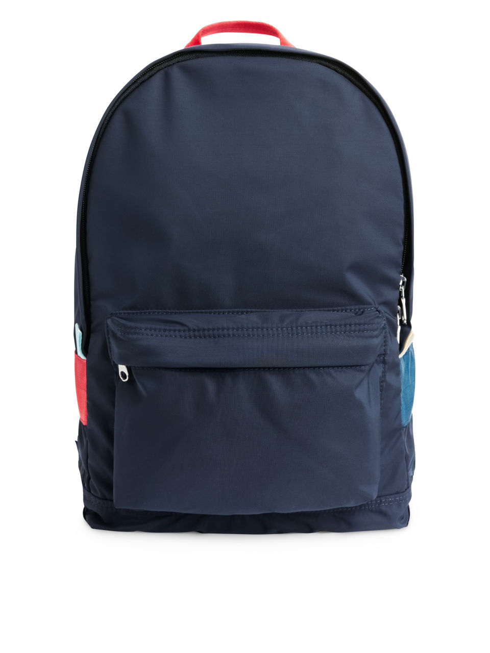 Front image of Arket water-repellent backpack in blue