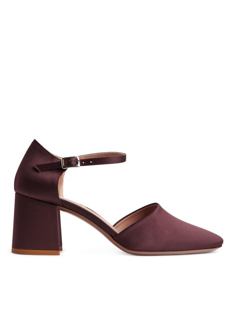 Satin Mid-Heel Shoes