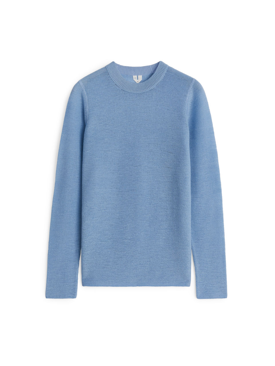 Front image of Arket wool crew-neck jumper in blue