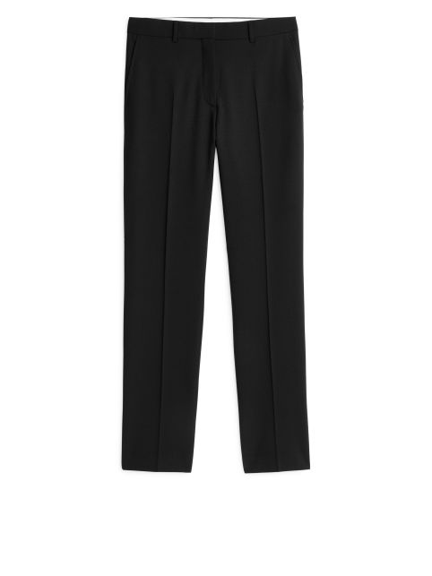Slim Stretch-Wool Trousers