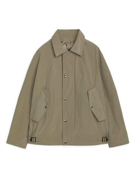 Front image of Arket lightweight deck jacket in beige