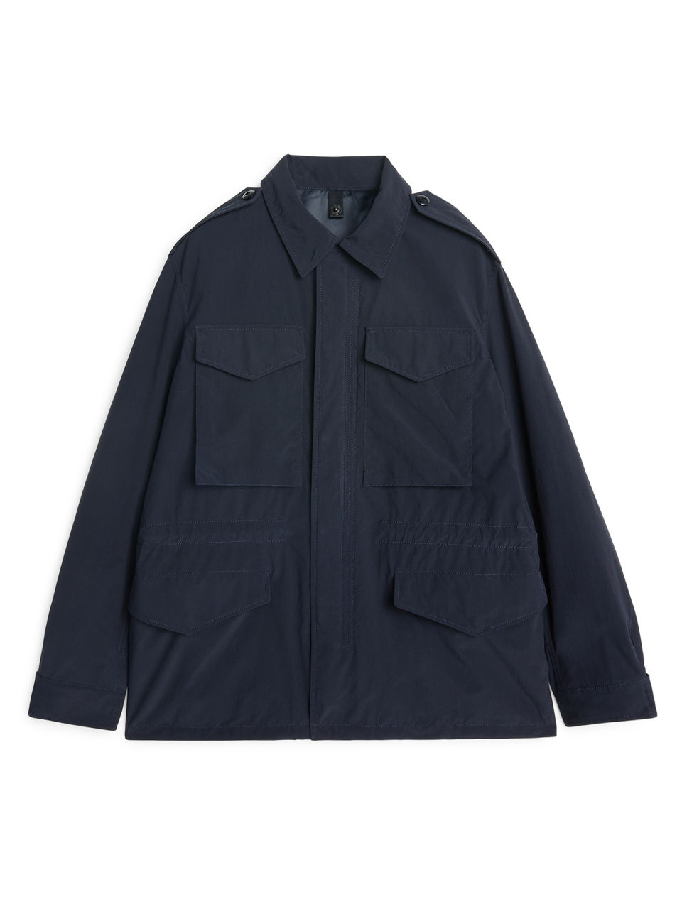 Front image of Arket lightweight field jacket in blue
