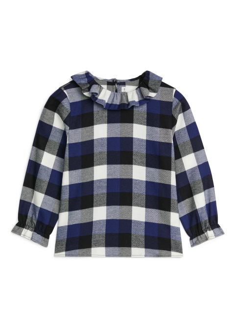 Cotton Flannel Frill Blouse
